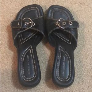 Montego Bay Club Womens Size 6 Black Sandals